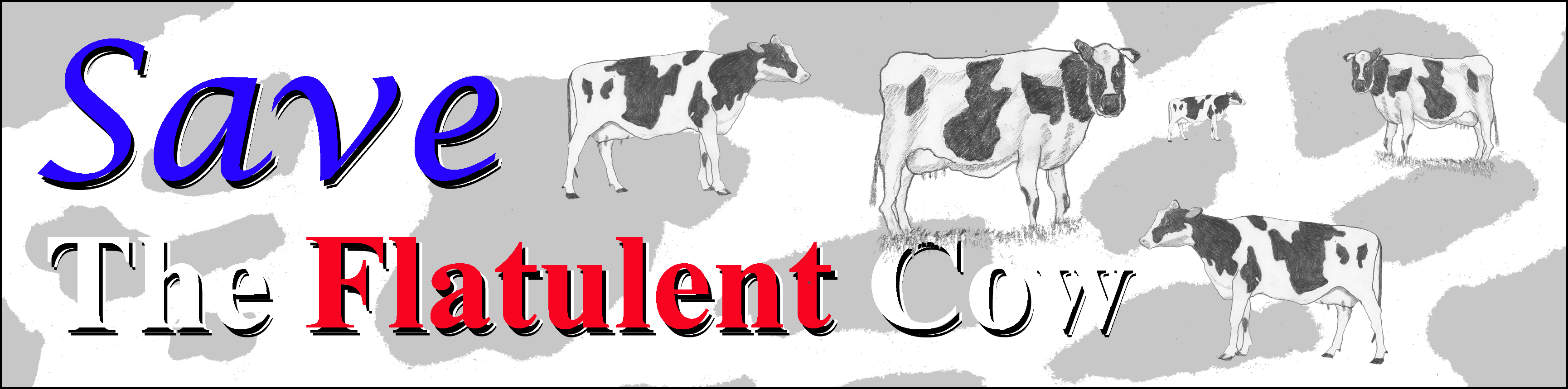 Save the Flatulent Cow Bumper Sticker
